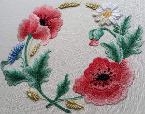 Embroidery Kits from The Maggie Gee Embroidery Studio  Flanders Poppy  Commemorating The First World War  1914-1918 - 2014-2018 Hello and Welcome to my Kits!  This very special kit is my tribute to those who gave their lives in the Great War and 10% percent of the sales from this kit will go to the charity Help for Heroes until 2018. This Kit is for the more advanced embroiderer or the embroiderer who feels they want to take the next step to trying more demanding techniques. It is made up…