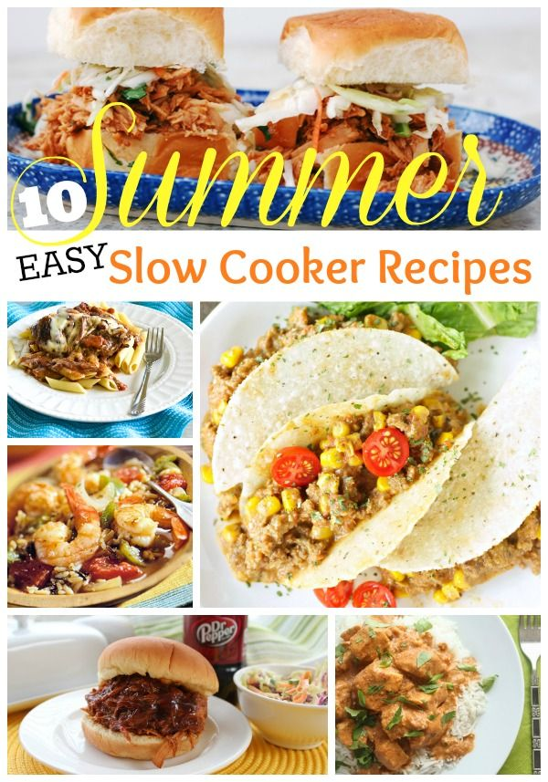 10-summer-easy-slow-cooker-recipes and my menu plan for the week of July 21/14