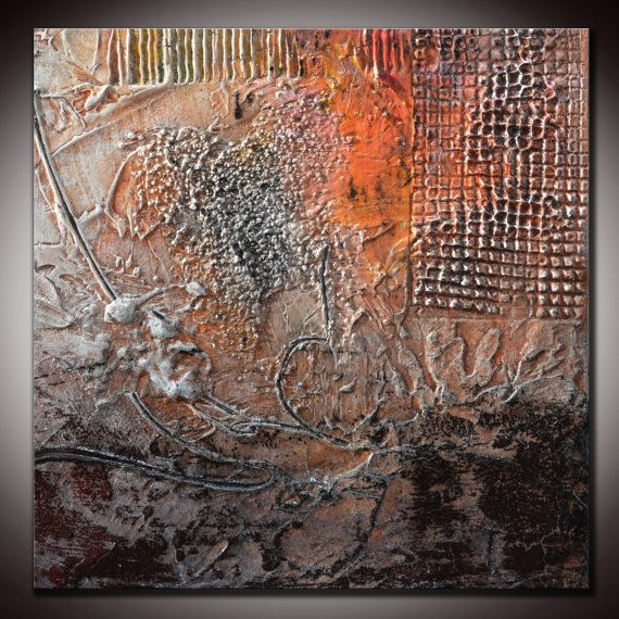 Small Abstract Textured Sculpted Original Painting By