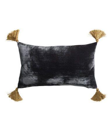 More velvet! And tassels! Tassels are everywhere. Velvet Cushion Cover, $17.95, H&M US