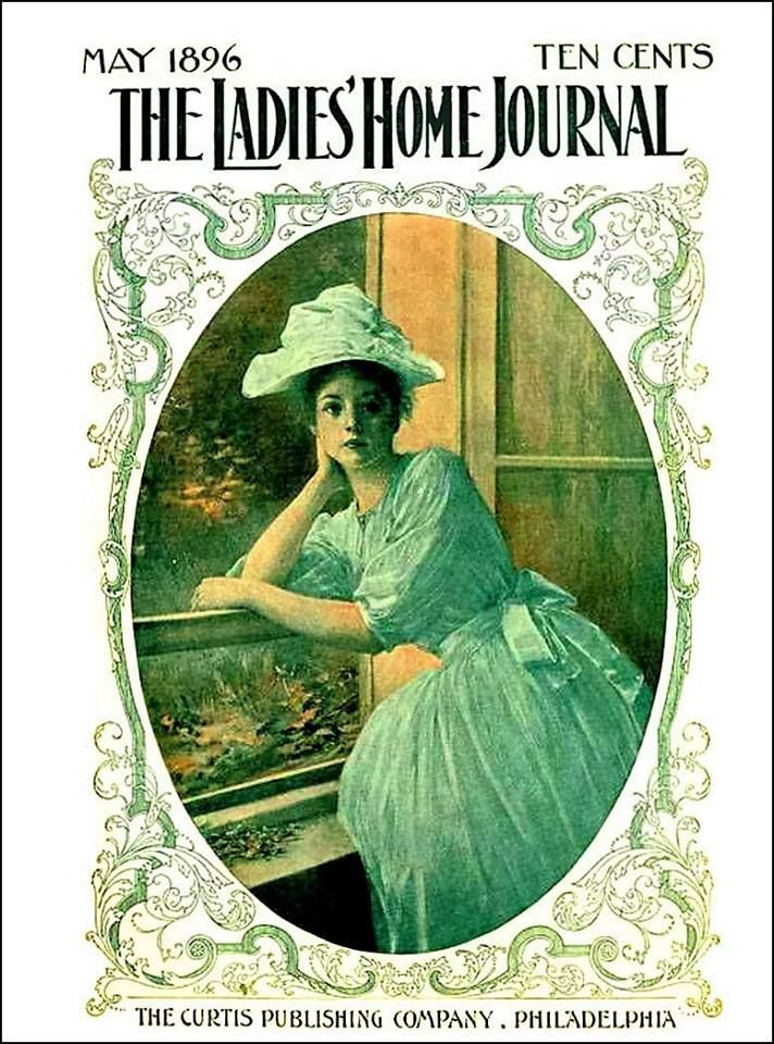 Ladies' Home Journal Young Woman at Window May 1896