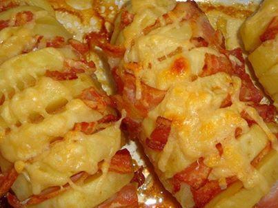 Receita de Batata assada com bacon crocante - Show de Receitas