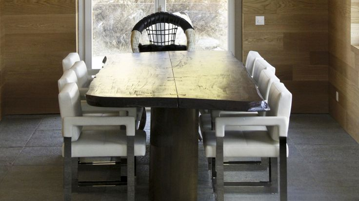 Villa a Samedan – Wooden and glass lounge table