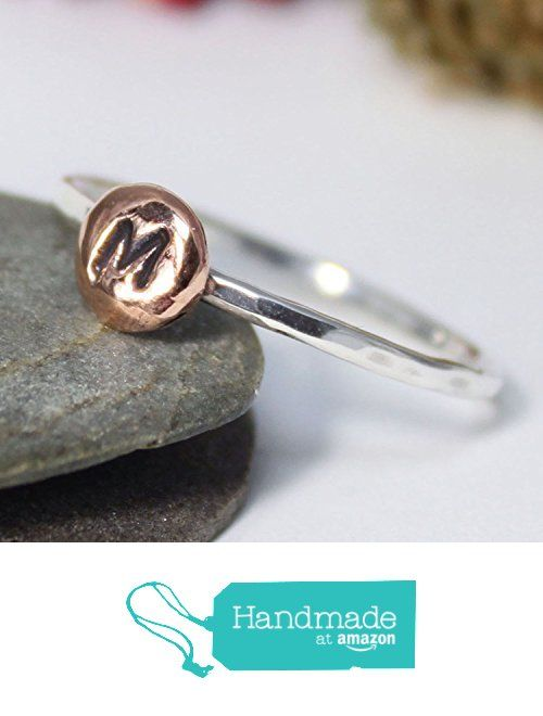 Copper Personalized & Custom Ring, Statement Ring, Stacking Rustic Ring, Gift for Mom, Stacking Ring, Hammered Ring, INITIAL STACKING RING from rosajuri https://www.amazon.com/dp/B07214F4PZ/ref=hnd_sw_r_pi_dp_GFzwzbD52M906 #handmadeatamazon