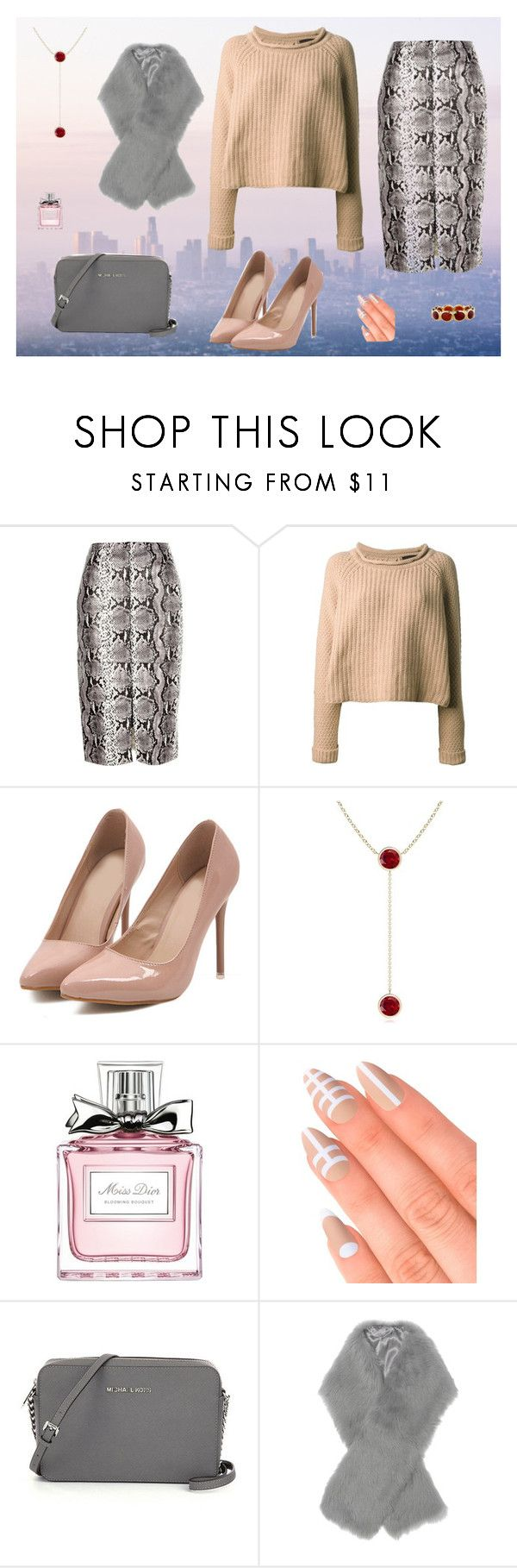 """""""City camouflage"""" by huskey234 ❤ liked on Polyvore featuring River Island, Jo No Fui, Christian Dior, Elegant Touch, Iris & Ink, Ippolita, women's clothing, women's fashion, women and female"""