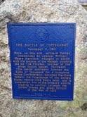 Battle of Tippecanoe Memorial near Prophetstown, Indiana (taken on the 200th anniversary of the battle).