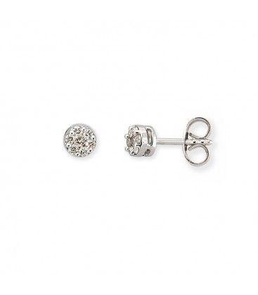 Elegantes dormilonas de oro blanco y diamantes, en subasta online hasta el 11 de abril.