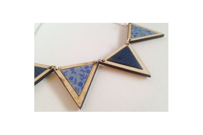 Bunting Necklace, Navy by Kosbaar on hellopretty.co.za