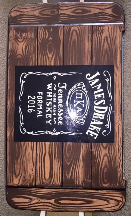 wood grain alcohol fraternity cooler jack Daniels whiskey