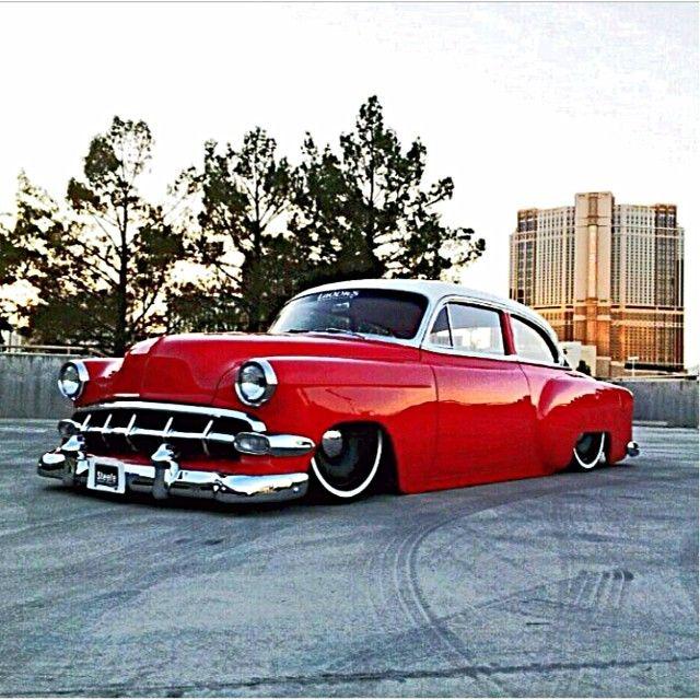 "1954 Chevrolet With 20"" Steelies (Detroit Steel Wheels) (Laodies Kustomz) (Steele Rubber Products) (SEMA 2012)"