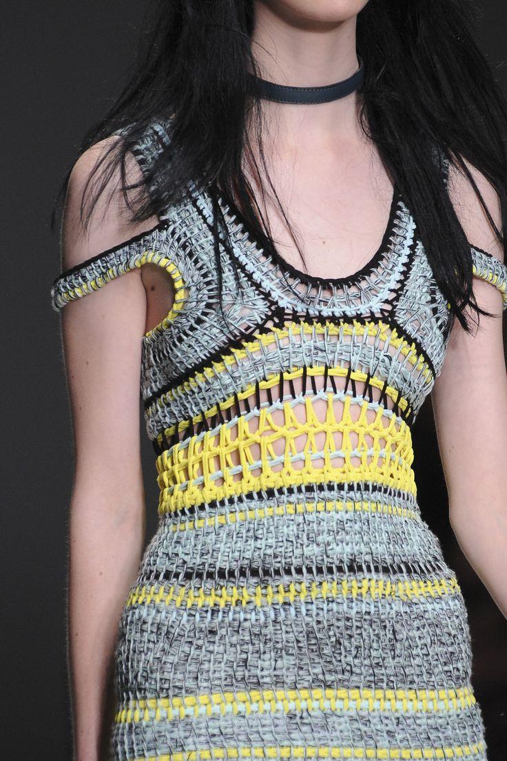 Mark Fast at London Fashion Week, Spring 2014 - (Details) Tunisian Crochet