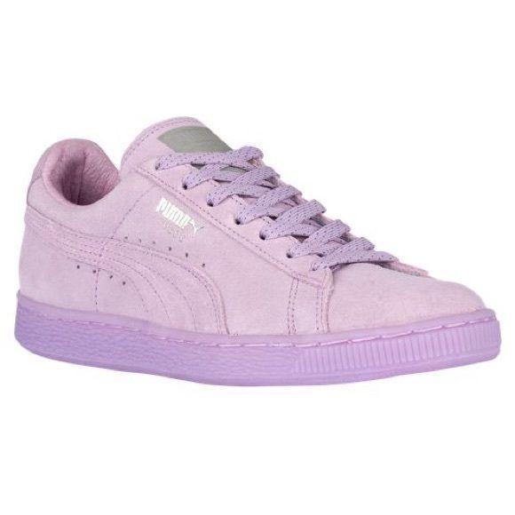 Suede Purple Pumas Flashy funky purple Puma Puma Shoes Sneakers