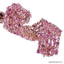 LJ West Majestic pink diamond bracelet