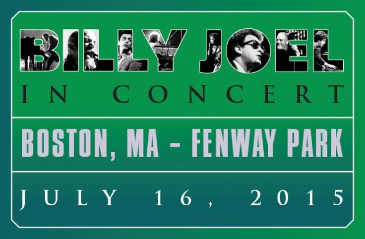 Tickets are ON SALE NOW. Get yours at http://www.fenwayticketking.com/billy-joel-fenway-park-tickets.html #billyjoel #pianoman #concerts #summer2015 #music #summerideas