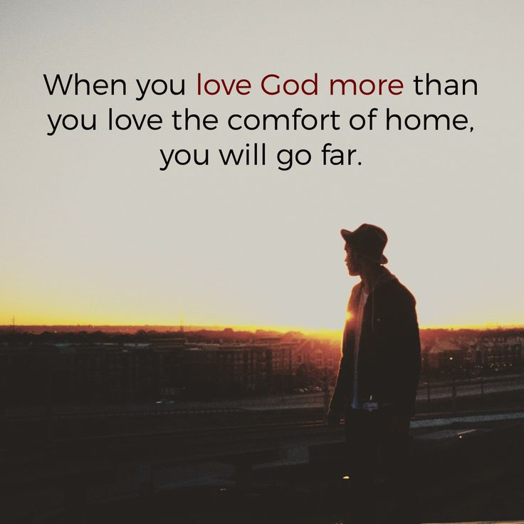 Do you love God more than comfort?