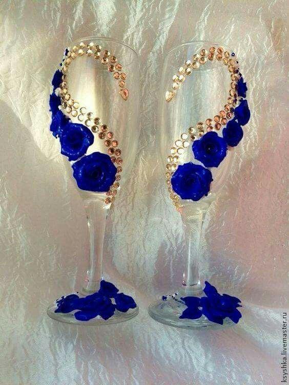 Best 25 copas decoradas para boda ideas on pinterest for Copas de champagne
