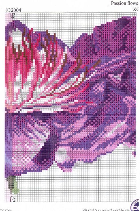 Flor lilas escuro 4