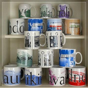 starbucks mugs <3