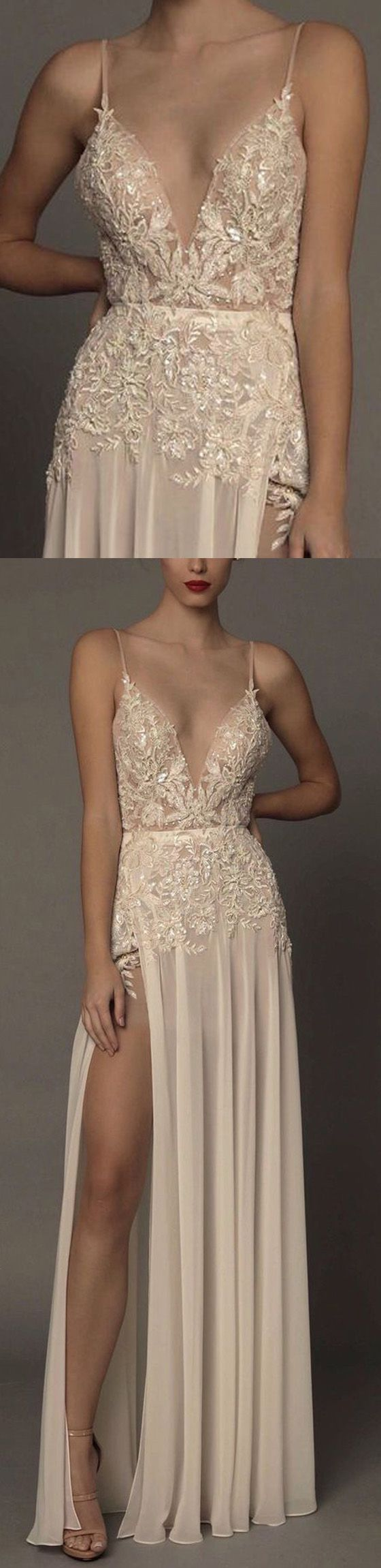 Sexy prom dress, v neck prom dress, side split prom dress, formal prom dress, evening dress, cheap prom dress, 15472 #promdress #prom #promdresses #longpromdress #eveningdress