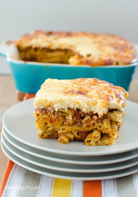 Pastitsio - Pasta Bake with Extra Lean Minced Beef  Extra easy HxA 0syns