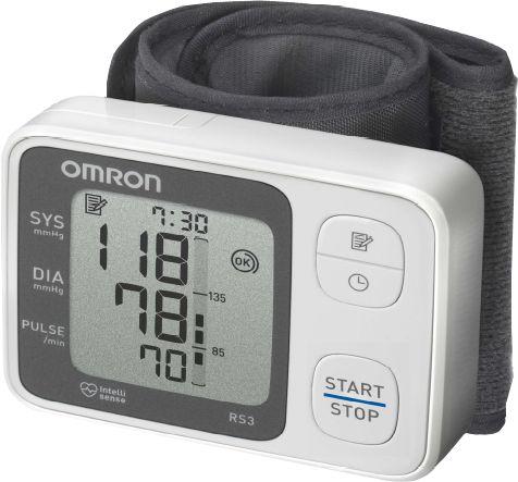 OMRON RS3 csuklós vérnyomásmérő - Kompakt, könnyen használható, oszcillometrikus elven működő vérnyomásmérő. Gyorsan és egyszerűen méri a vérnyomást és a pulzusszámot.