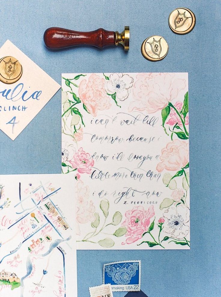 Our Southern Wedding Custom Wedding Invitations Watercolor
