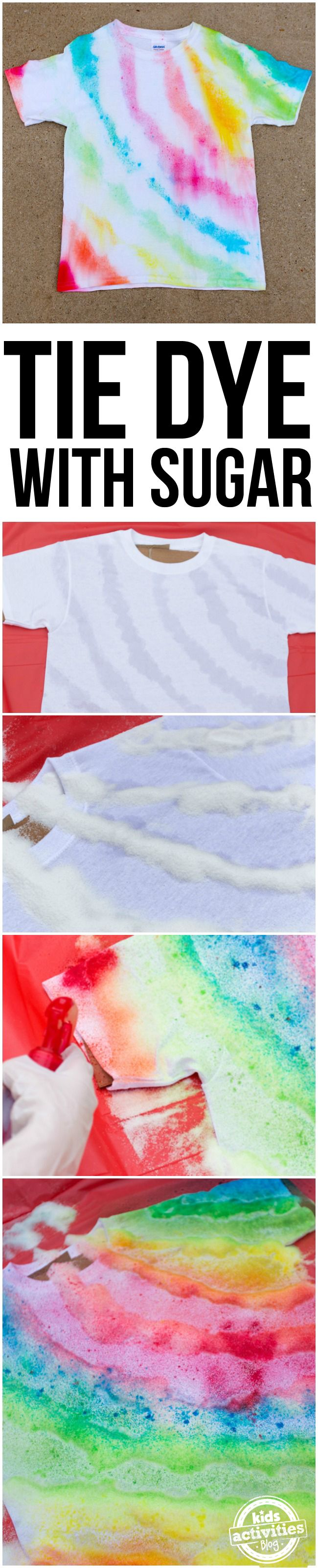 Make tie dye shirts using sugar! This fun and simple activity is perfect for kids! @imperialsugar