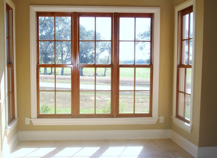 Painted Window Trim With Natural Wood Window