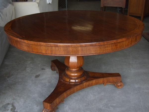Colonial Cedar Round Tilt Top Dining Table With