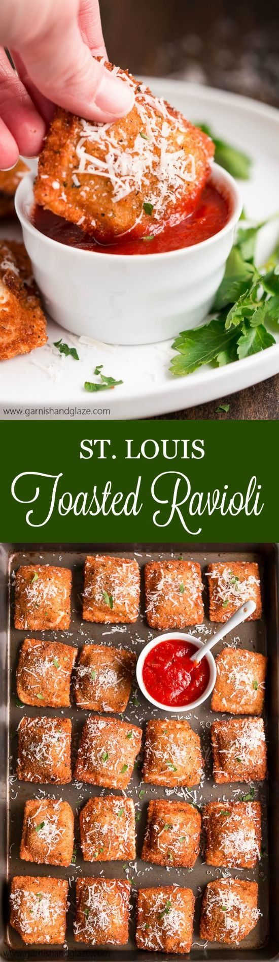 These crisp fried Toasted Ravioli, a St. Louis specialty, are the perfect appetizer to any Italian meal.