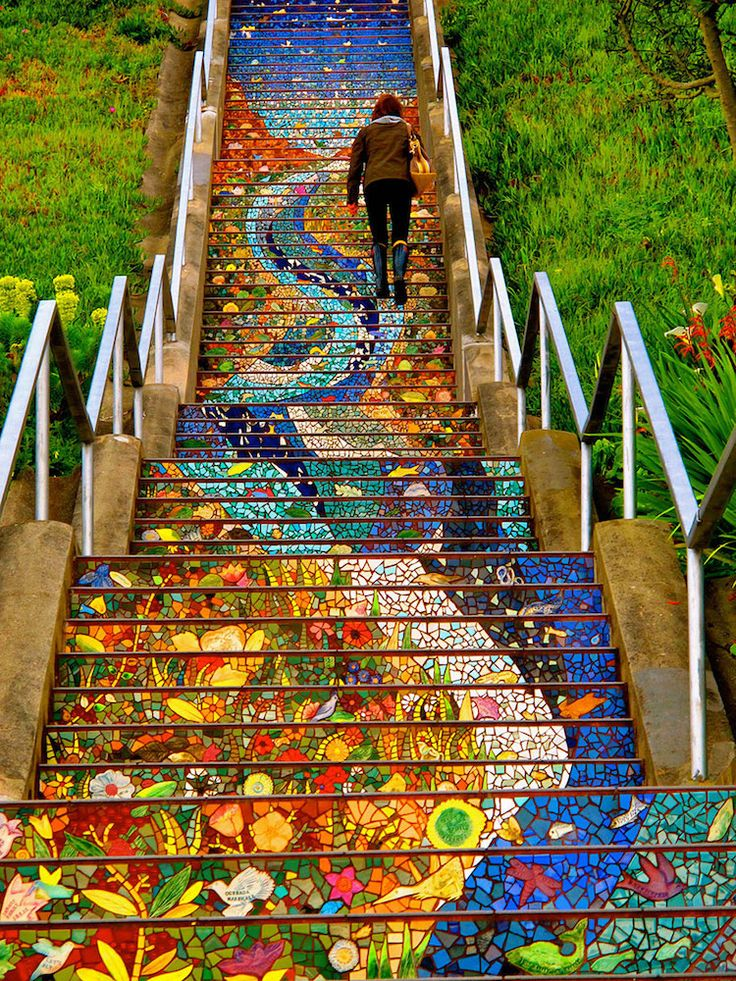 16th Avenue Mosaic Steps - San Francisco ~ by Aileen Barr and Colette Crutcher