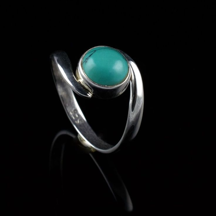 925 Sterling Silver Natural Turquoise Gemstone Handmade Ring Size 7 US #Handmade #Cluster #Party