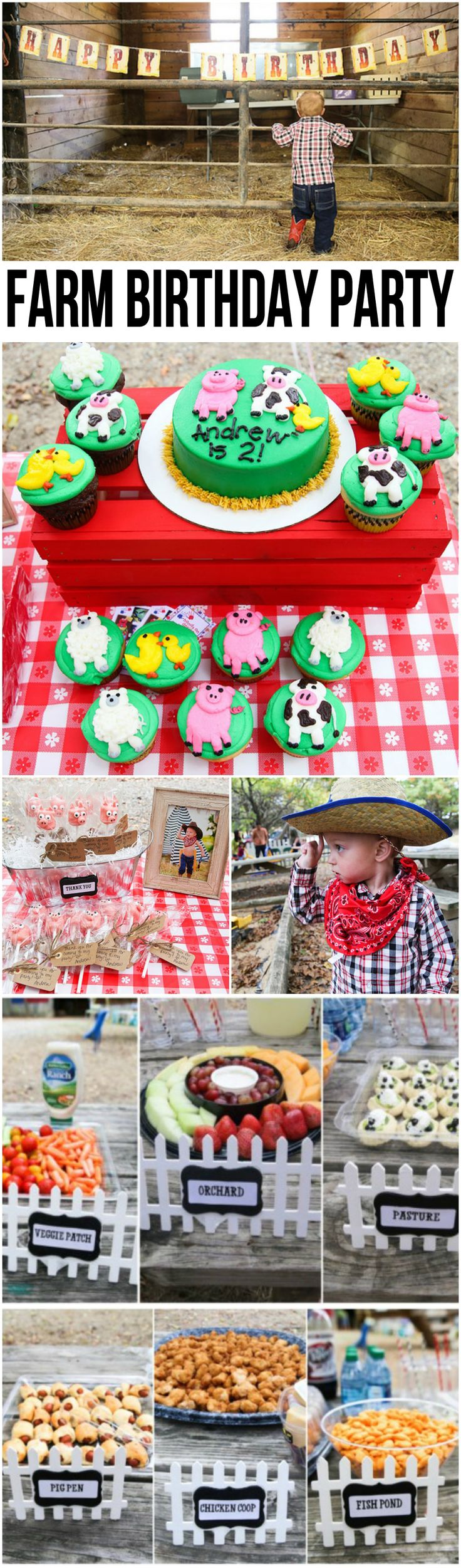 I've been looking forward to Andrew's 2nd Birthday Party for weeks. This was the most fun I've had planning a party, and I think it turned out so cute! I'm so excited to share all the details with you! We had the party at Grisham Farms Petting Zoo in McKinney. They were super-easy to work …