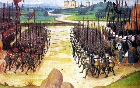 The Battle of Agincourt: the armies clash