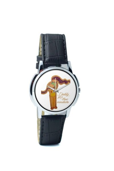 Wrist Watches India | Daddy Got A New Moustache Curly | Father's Day Wrist Watch Online India.