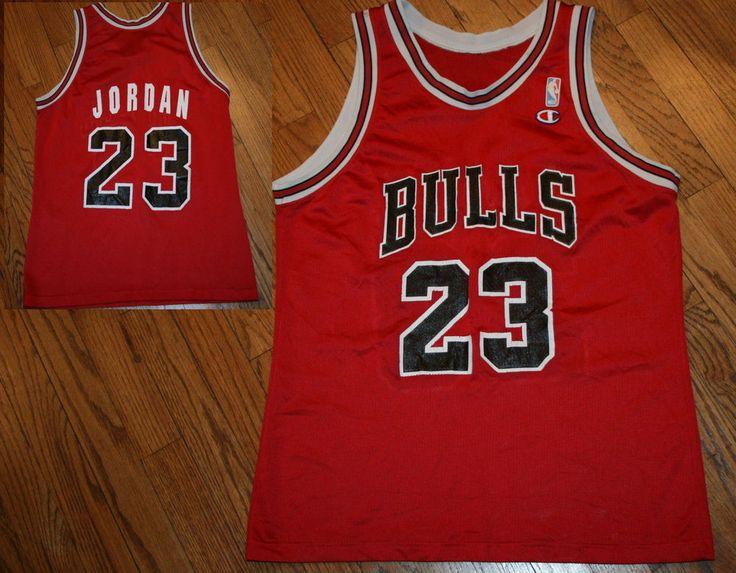 c86e7640c ... Vintage Chicago Bulls Michael Jordan 23 Champion Basketball Jersey  Adult size Champion ChicagoBulls ...