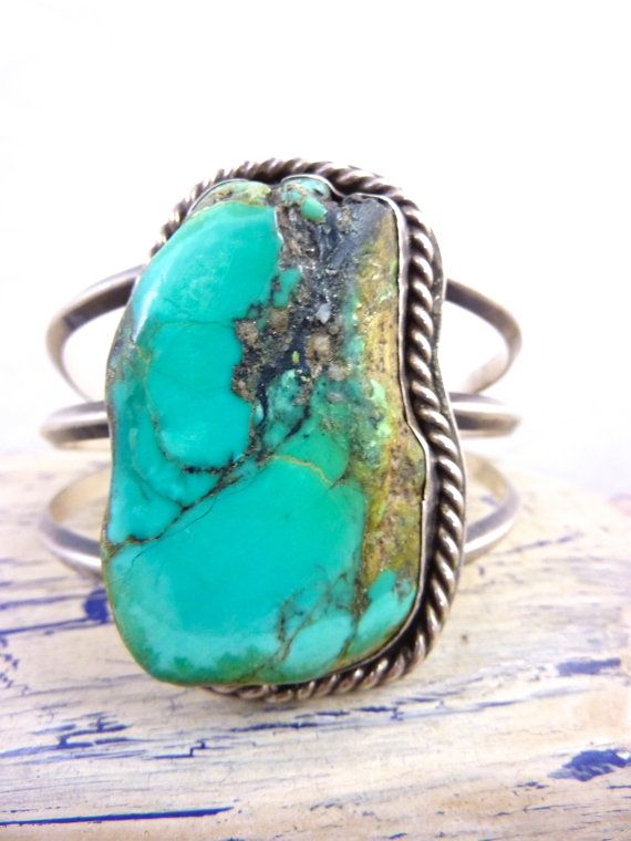 LAYAWAY for Mandy;#2....Do Not Buy.......Huge Vintage Navajo Mesa Royston Turquoise Stone & Handmade Sterling Silver Cuff Bracelet. AMAZING.