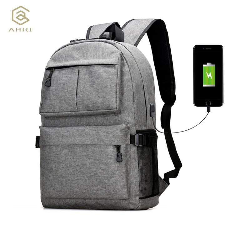 Diseño USB AHRI Unisex Mochilas mochila para Mochila Escolar Mochila Informal Mochila Oxford Tela Portátil Mochilas De Moda Hombre