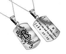 'Blessed' - Women's Dog Tag Necklace