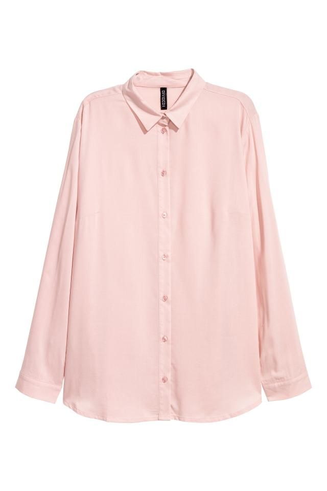 f0dbfbd300142 Straight-cut shirt in a soft viscose weave with a collar