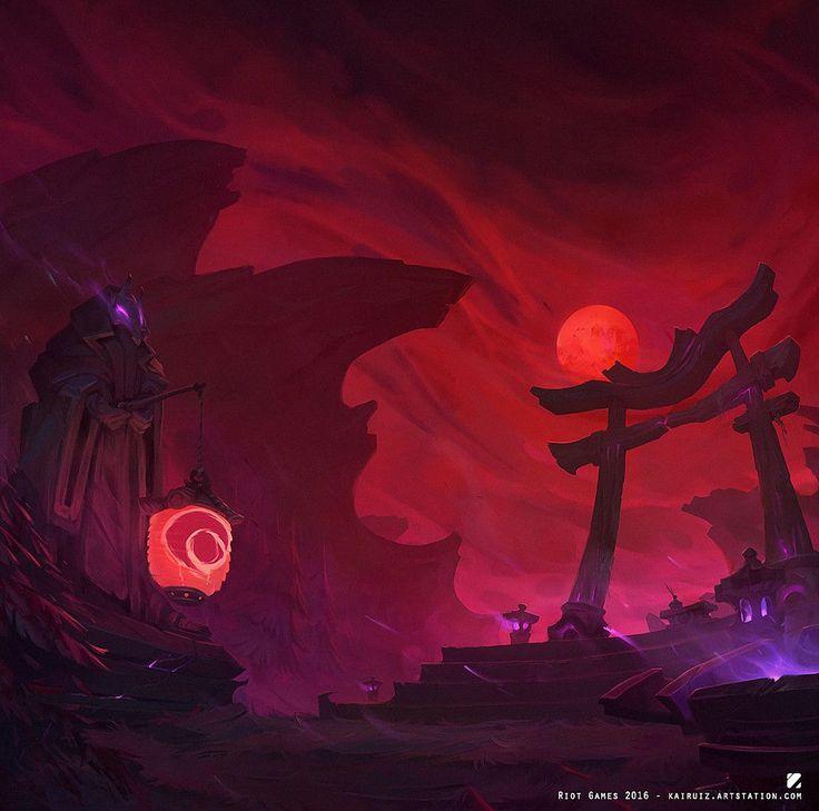 Blood Moon (League of Legends), Carlos Ruiz on ArtStation at https://www.artstation.com/artwork/W3EaG