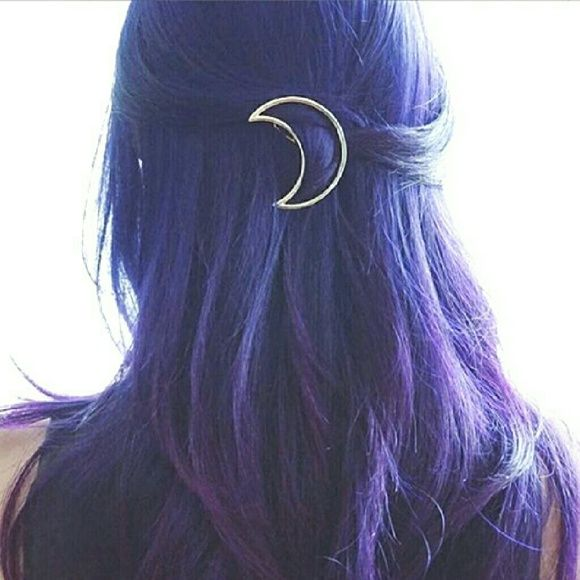 Gold Moon Hair Clip Brand new hollow moon gold hair clip comes new in box. Minimalist Jewelry Co  Accessories Hair Accessories