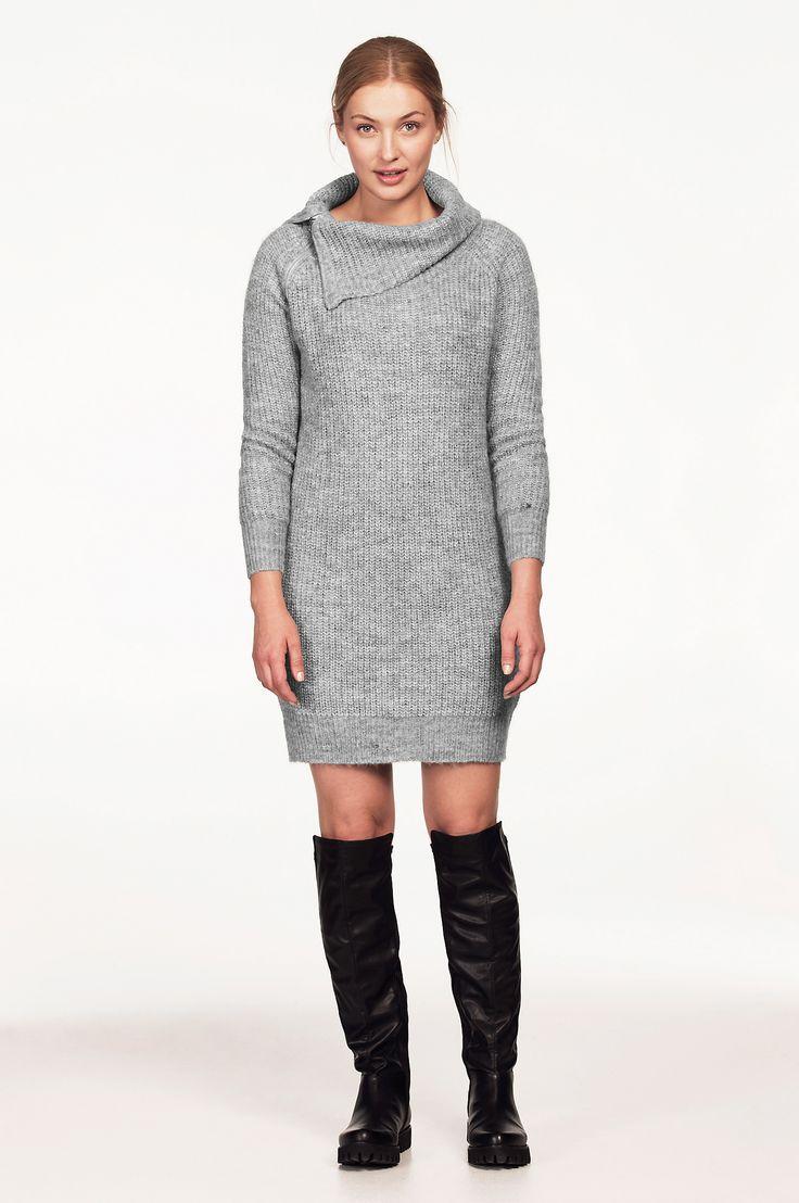 strikket kjole dame
