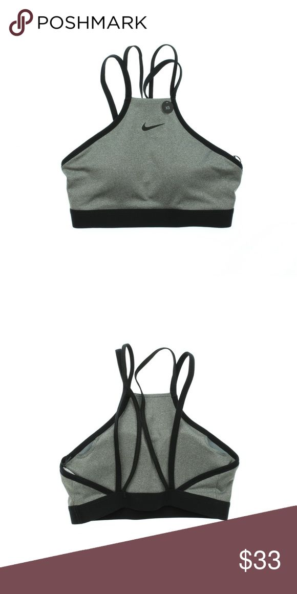 Nike Indy Modern Athletic Sports Bra Grey Black Product Name: NIKE Womens Indy M…