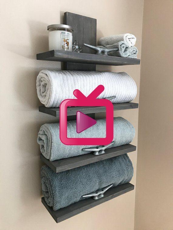 Nautischer Handtuchhalter Nautisches Dekor Badezimmer Dekor Wohnkultur Cleat Handtuchhalter Diy And Crafts In 2020 Badezimmer Dekor Handtuchhalter Dekor