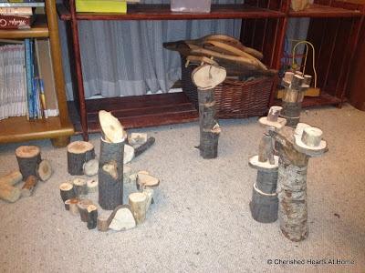 Cherished Hearts At Home: Homemade Tree Blocks Tutorial