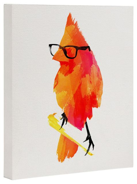 Robert Farkas Punk Bird Art Canvas - Contemporary - Prints And Posters - by DENY Designs