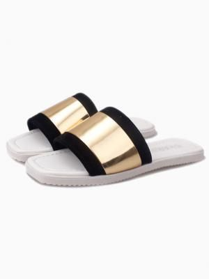 New Style Golden Metallic Slippers by: Choies