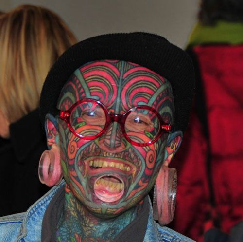 frightening...: Modified People, Strange Lips, Crazy People, Faces Tattoo'S, Body Art, Body Modifications, A Tattoo'S, Faces Tatting, Extreme Modified