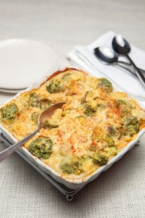 Broccoli Casserole - Healthy (made with coconut milk and pureed cauliflower